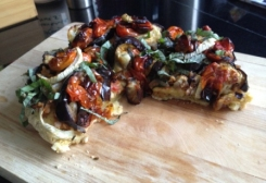 Roasted Eggplant, Fennel, and Tomato Focaccia