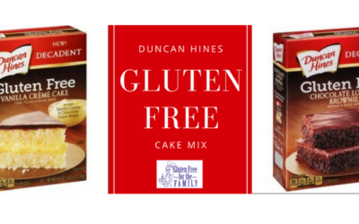 The Duncan Hines Gluten-Free Cake!!