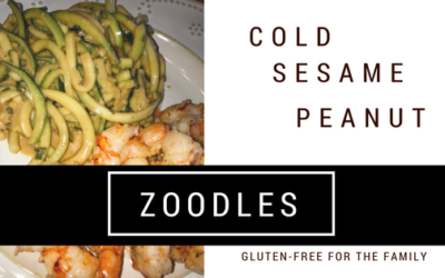 Cold Sesame Peanut Zoodles Gluten-Free